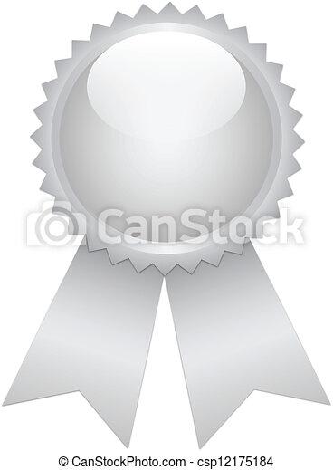 prata, fita, prêmio - csp12175184