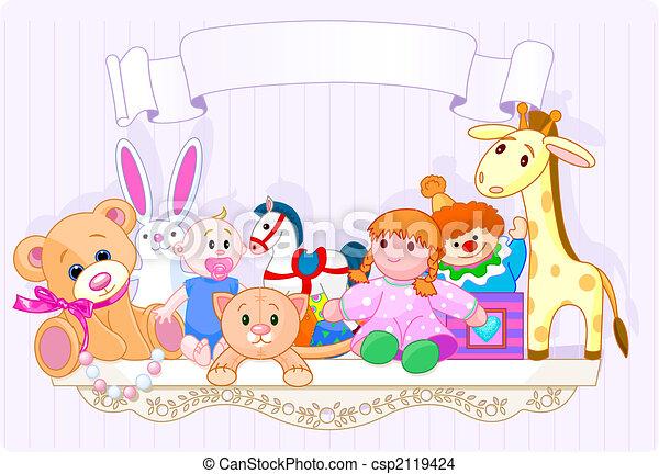 prateleira, brinquedo - csp2119424