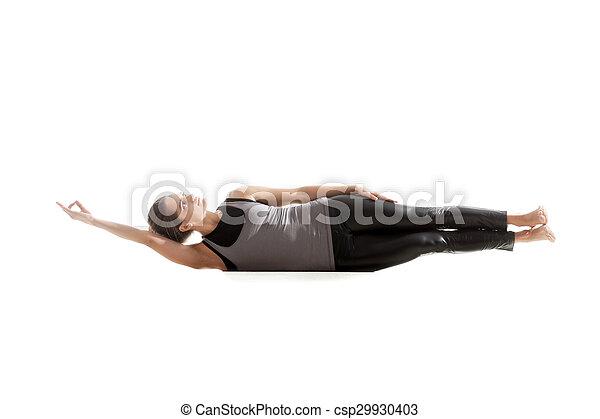 pratique yoga yoga sportif oblique mensonges fond