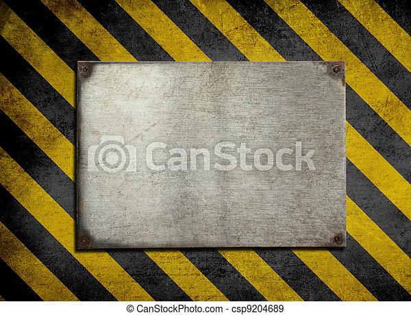prato, antigas, metal, listras, perigo, fundo - csp9204689