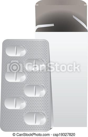 prato, metal, pílulas - csp19327820