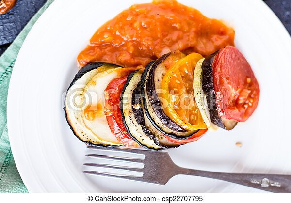 prato, molho, topo, ratatouille, vegetal, vista - csp22707795