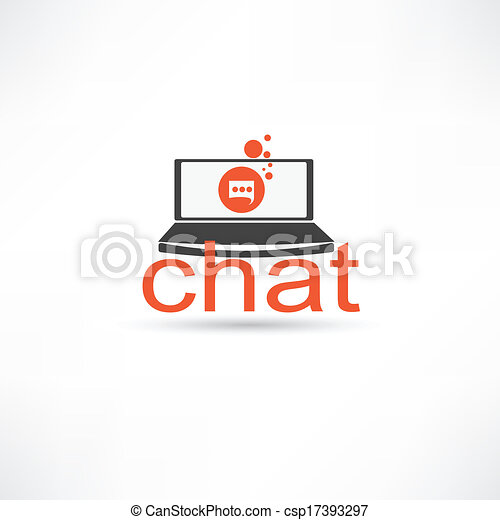 pratstund, ikon - csp17393297