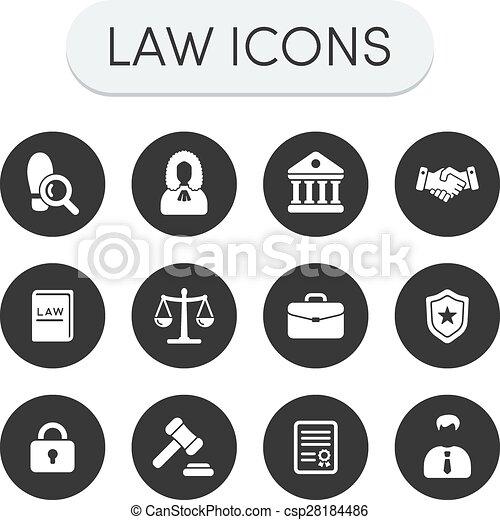 prawo, ikony - csp28184486
