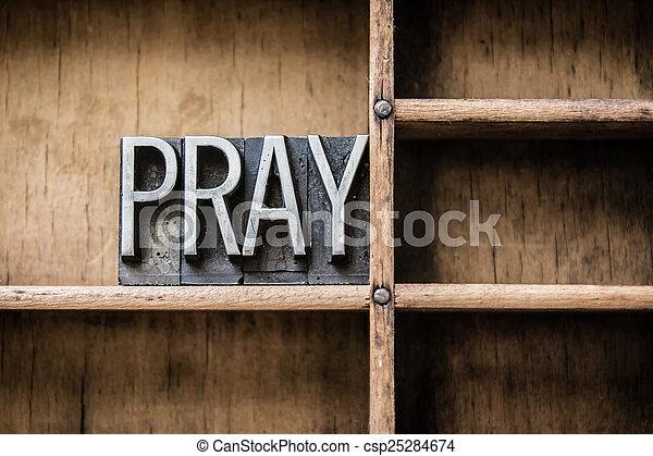 Pray Letterpress Concept - csp25284674
