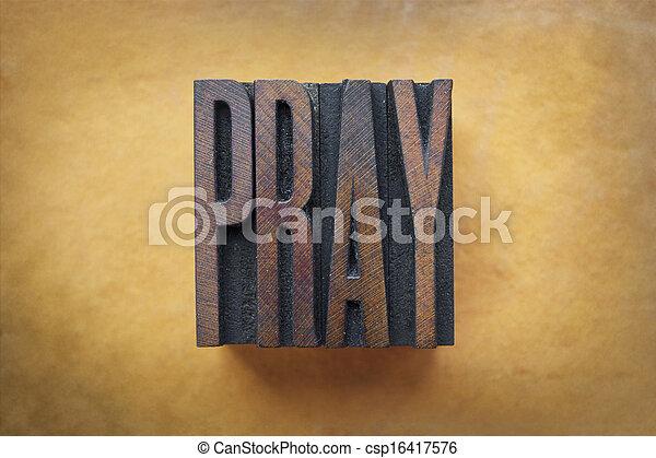 Pray - csp16417576