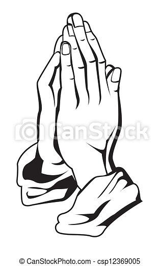 prayer hand - csp12369005