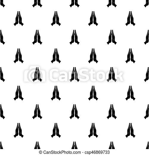 Prayer pattern vector - csp46869733