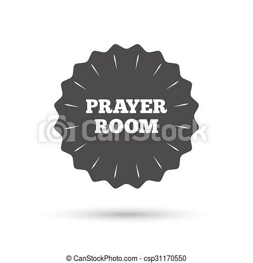 Prayer Room Sign Icon Religion Priest Symbol Vintage Emblem Medal