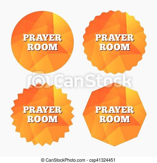 Prayer Room Sign Icon Religion Priest Symbol Prayer Room