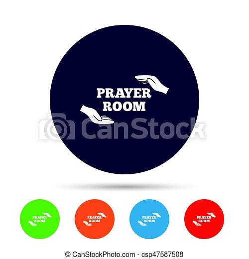 Prayer Room Sign Icon Religion Priest Symbol Prayer Room Vector