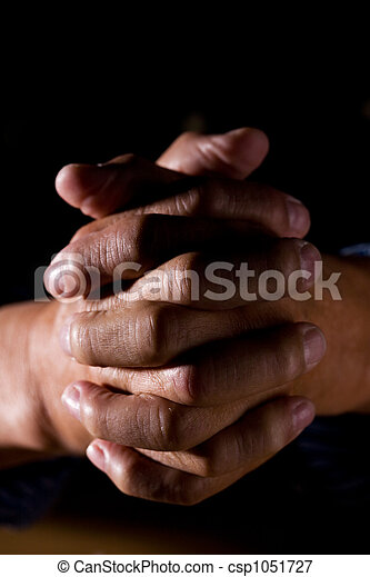 Praying man - csp1051727