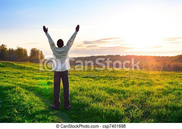 praying man - csp7401698