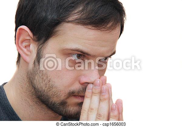 praying man - csp1656003