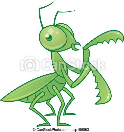 vector drawing of a cute and friendly praying mantis vector clip rh canstockphoto com praying mantis clipart