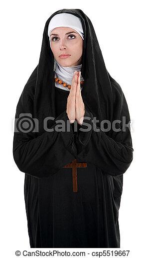 Praying Nun - csp5519667