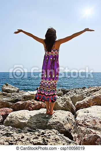 Praying under the sun - csp10056019