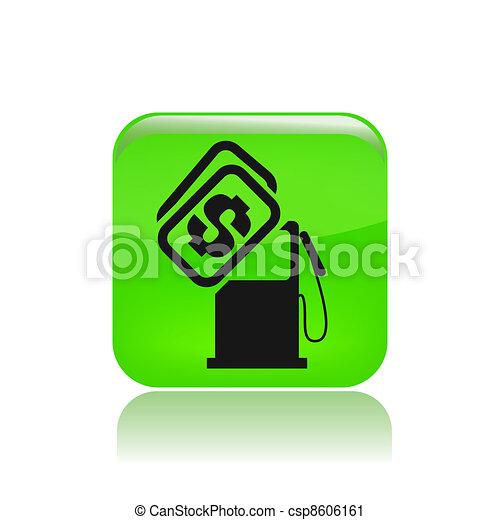preço, isolado, ilustração, único, vetorial, combustível, ícone - csp8606161