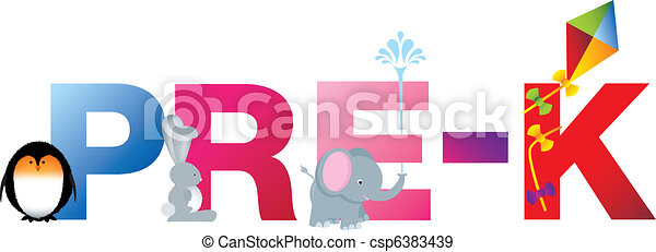 pre k word the word pre k made up from alphabet cartoon stock rh canstockphoto com pre-k daily schedule clipart pre-k classroom clipart