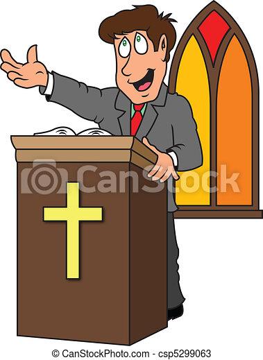 preacher a pastor preaching the gospel from the pulpit rh canstockphoto com guest preacher clipart black preacher clipart