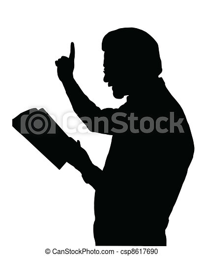 preacher teaching from bible preacher reading from bible with rh canstockphoto com guest preacher clipart guest preacher clipart