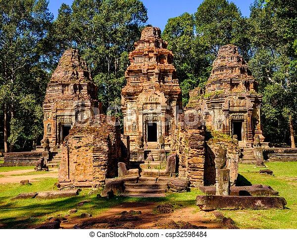 Preah Ko temple, Angkor, Siem Reap, Cambodia. - csp32598484