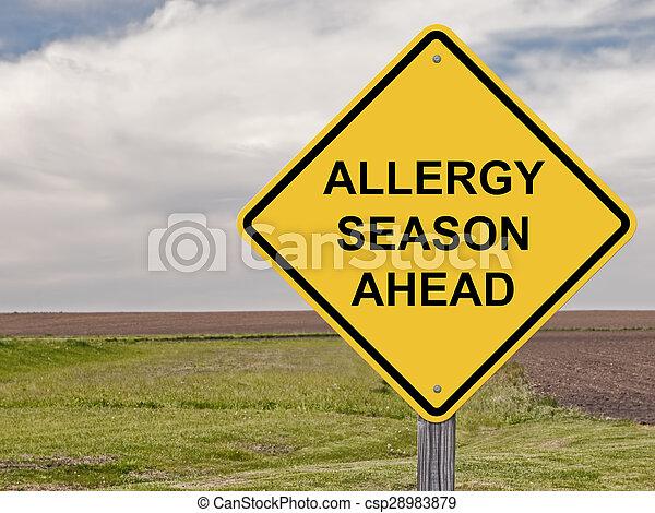 Precaución: temporada de alergias por delante - csp28983879