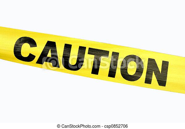 Cinta amarilla de advertencia - csp0852706