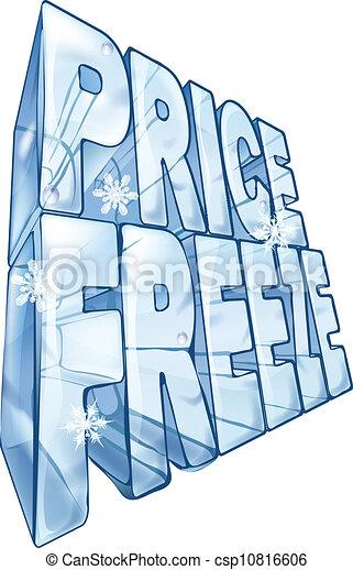 Ilustración de precio de congelación - csp10816606