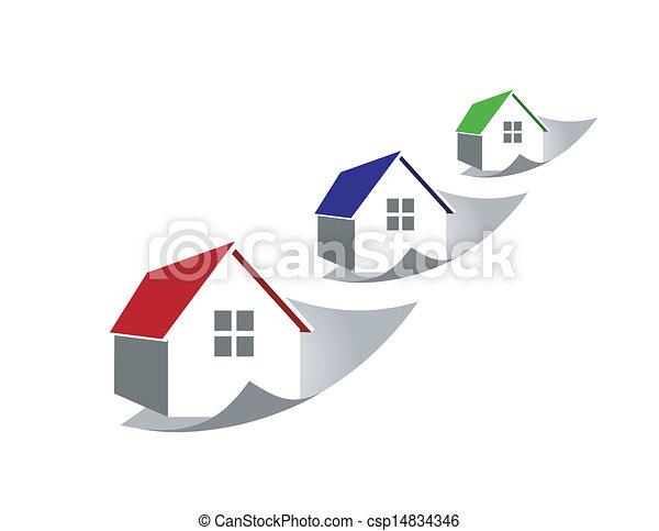 Aumentando los precios de casa - csp14834346