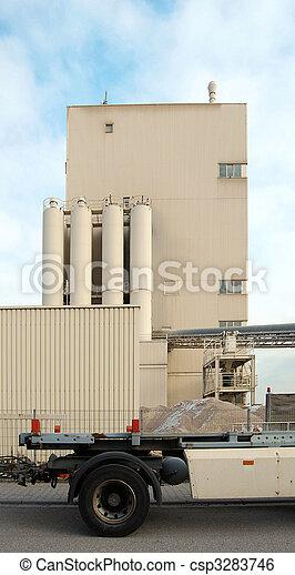 predios, industrial, caminhão - csp3283746