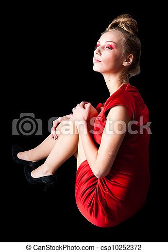 Preety girl on floor - csp10252372