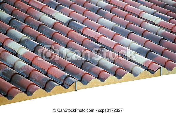 prefabricated, espuma, telhado, polyurethane - csp18172327