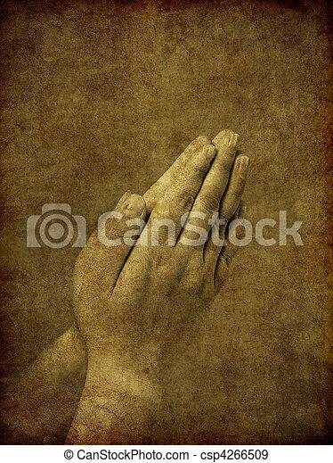 pregare, fondo, mani - csp4266509