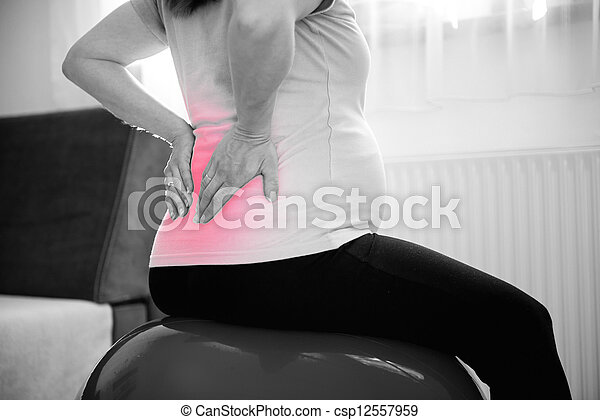 Pregnancy backache - csp12557959