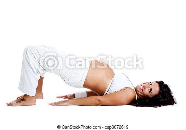 Pregnancy exercises - csp3072619