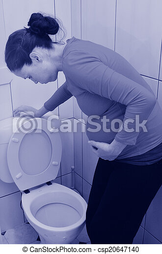 Pregnancy - pregnant woman morning sickness - csp20647140