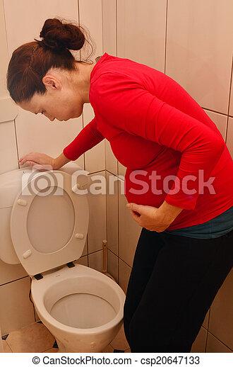 Pregnancy - pregnant woman morning sickness - csp20647133