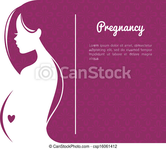 Pregnant woman's silhouette  - csp16061412