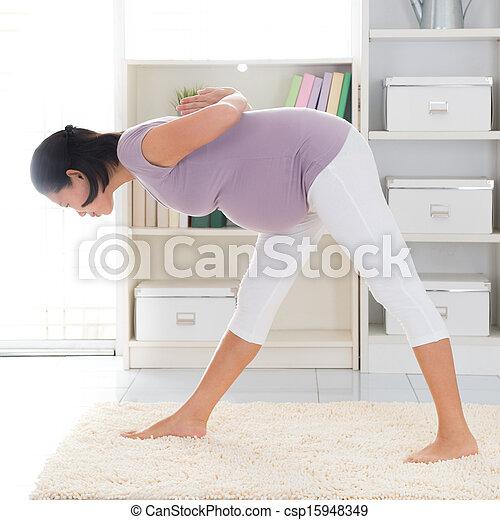 pregnant yoga prenatal yoga full length healthy 8 months