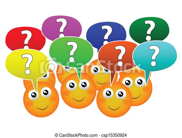 Haz preguntas - csp15350924