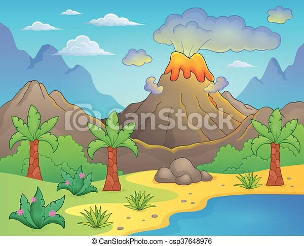 prehistorisch, landscape, thema - csp37648976