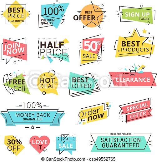 premie, etiketten, set, kwaliteit - csp49552765