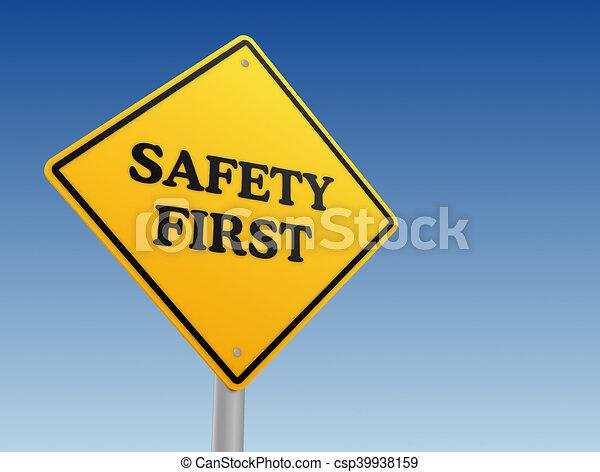 premier, concept, sécurité, illustration, signe - csp39938159
