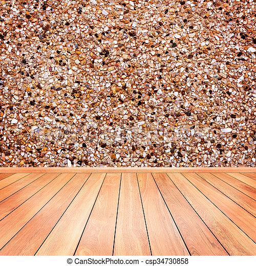 Premier Plan Plancher Pierre Mur Bois Intrieur Images De Stock