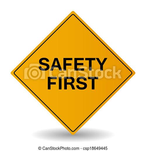 premier, sécurité, signe - csp18649445