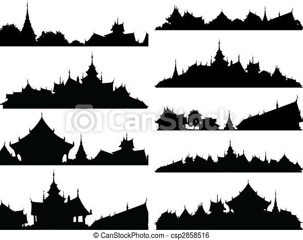 premiers plans, temple - csp2858516