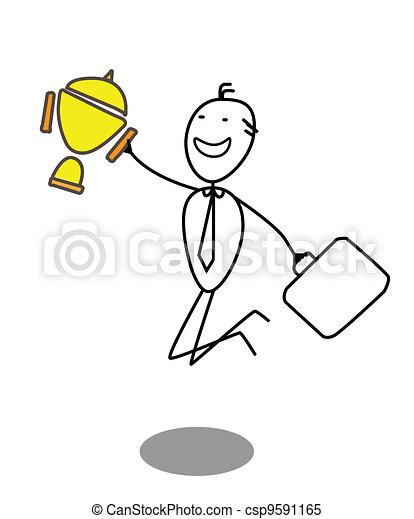 Premio al hombre de negocios - csp9591165