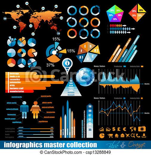 premio, maestro, collezione, infographics - csp13288849