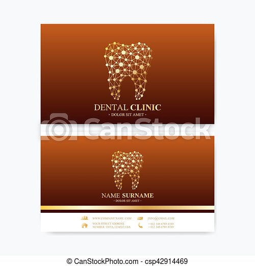 Premium business card print template visiting dental clinic card premium business card print template visiting dental clinic card with tooth logo dentist office fbccfo Image collections
